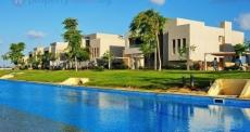 Hacienda Bay 1 Palm Hills, Water Villa 787m for Sale, Front Pool & Garden View